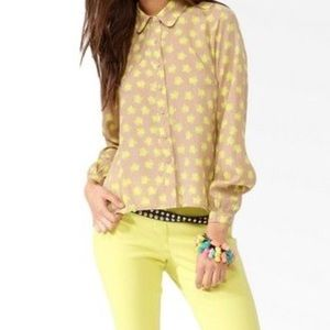 Forever 21 Hello Kitty Collaboration Sheer Top S